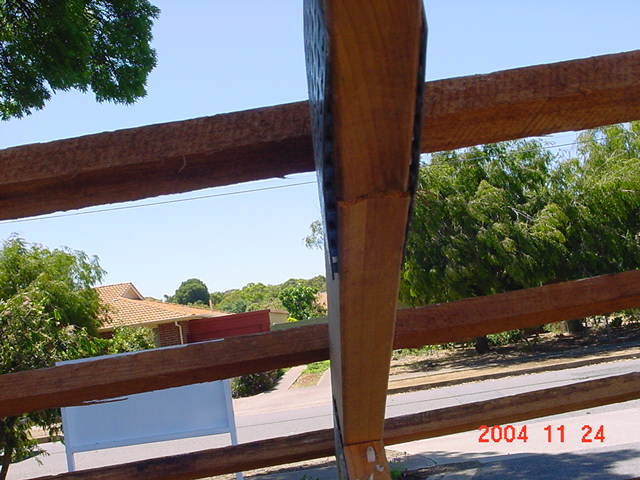 Roof Technicians Peeling Truss Plates And Failure Roof